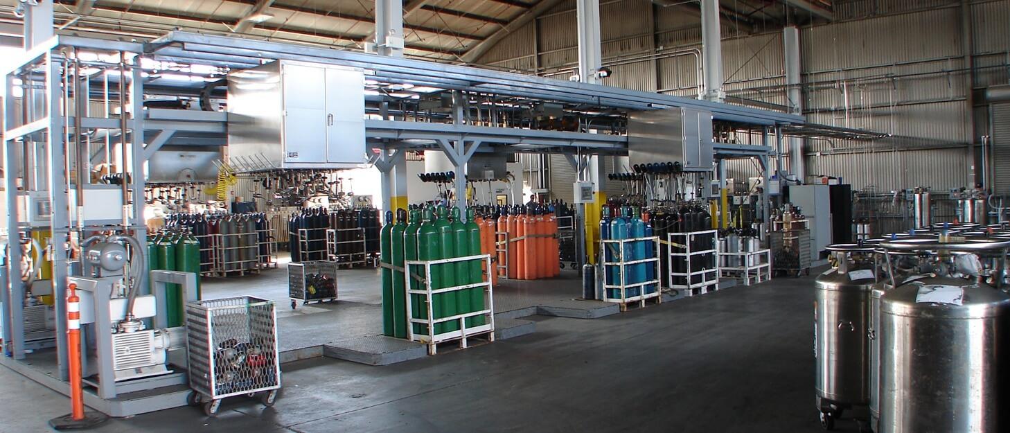 Weldcoa installed gas cylinder fill system