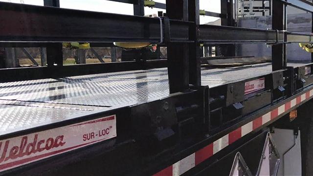 Weldcoa Sur-Loc pallet on a truck
