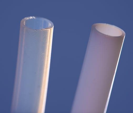 PTFE vs Post-Sintered PTFE close-up 600x700pixels