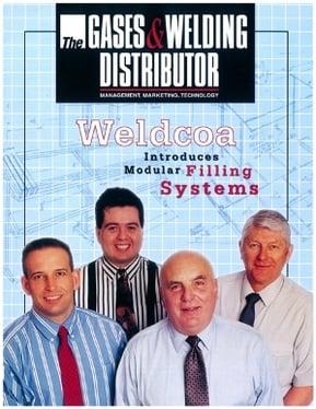 Weldcoa's 1995 leadership team on a marketing brochure