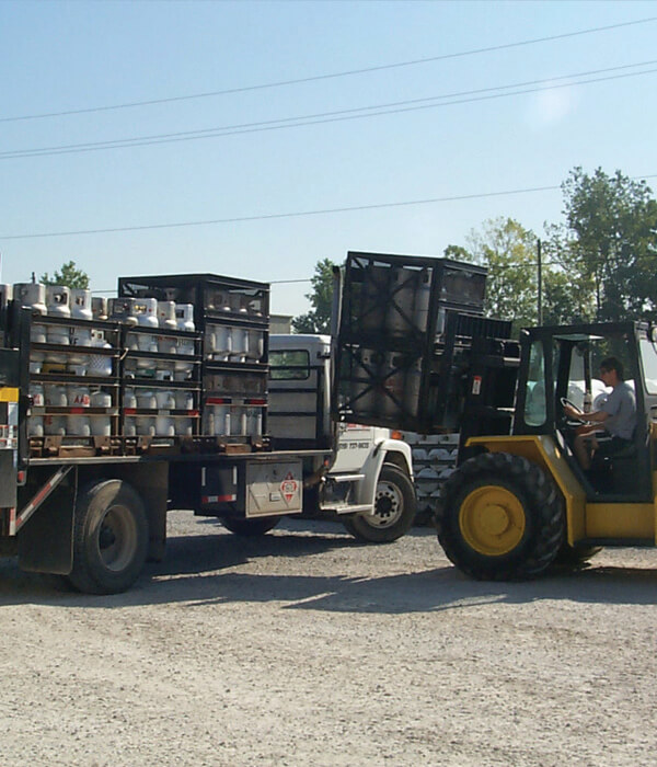 Propane Pallets loading 1