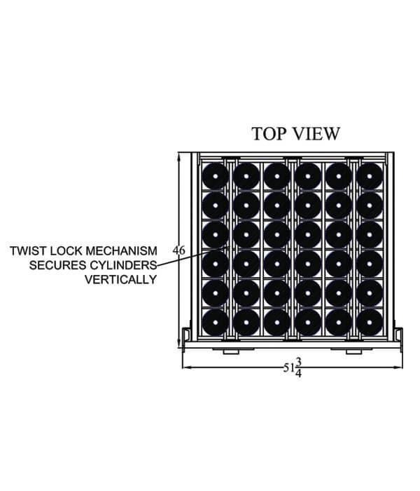 Stack-Loc B Pallet Top View