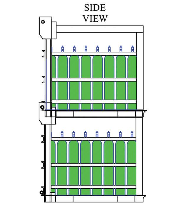Stack-Loc Medical D&E Pallet Side View